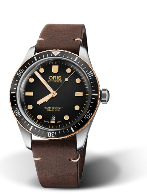 ORIS Divers date, Bico-Bronze- black dial