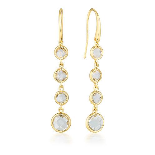 Georgini Helios Gold Drop Earrings