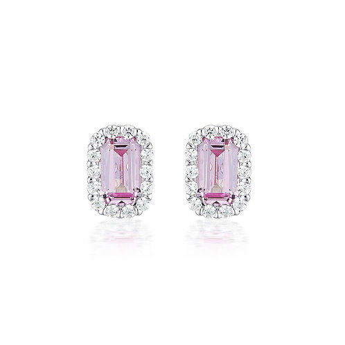 Georgini Paris Pink Sapphire Studs
