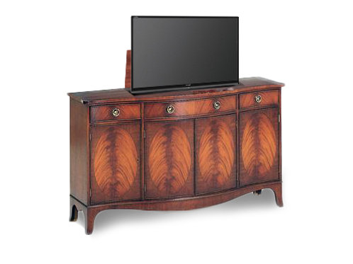 Traditional Bow-Fronted Flame Mahogany Cabinet - 20% Off