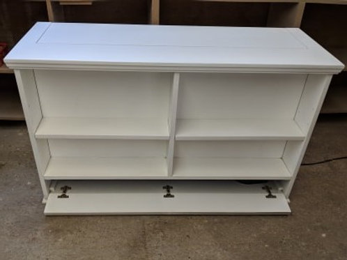 Traditional Bookcase Cabinet with Media Storage