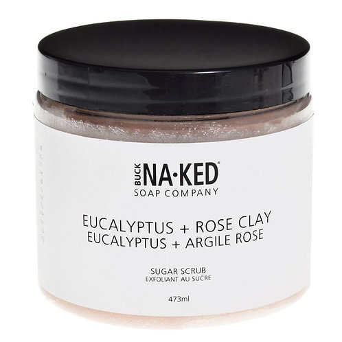 BUCK NAKED - Eucalyptus + Rose Clay Scrub
