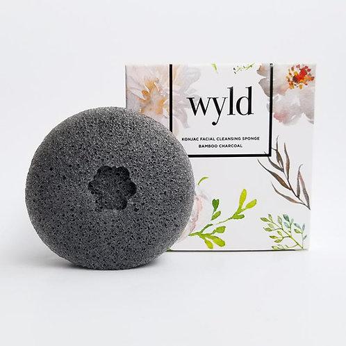 WYLD - Bamboo Charcoal Konjac Sponge