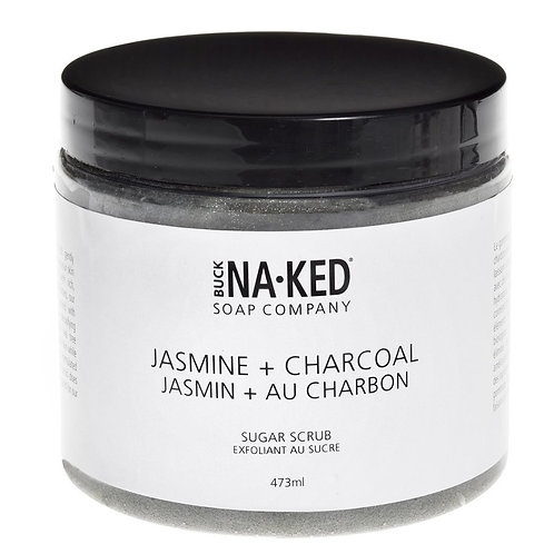 BUCK NAKED - Jasmine + Charcoal Sugar Scrub