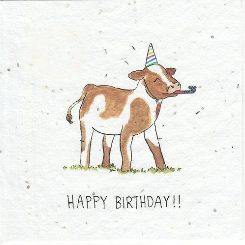 Okku Design - Birthday Cow Seeded Card