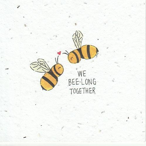 Okku Design - Bee-long Together Seeded Card