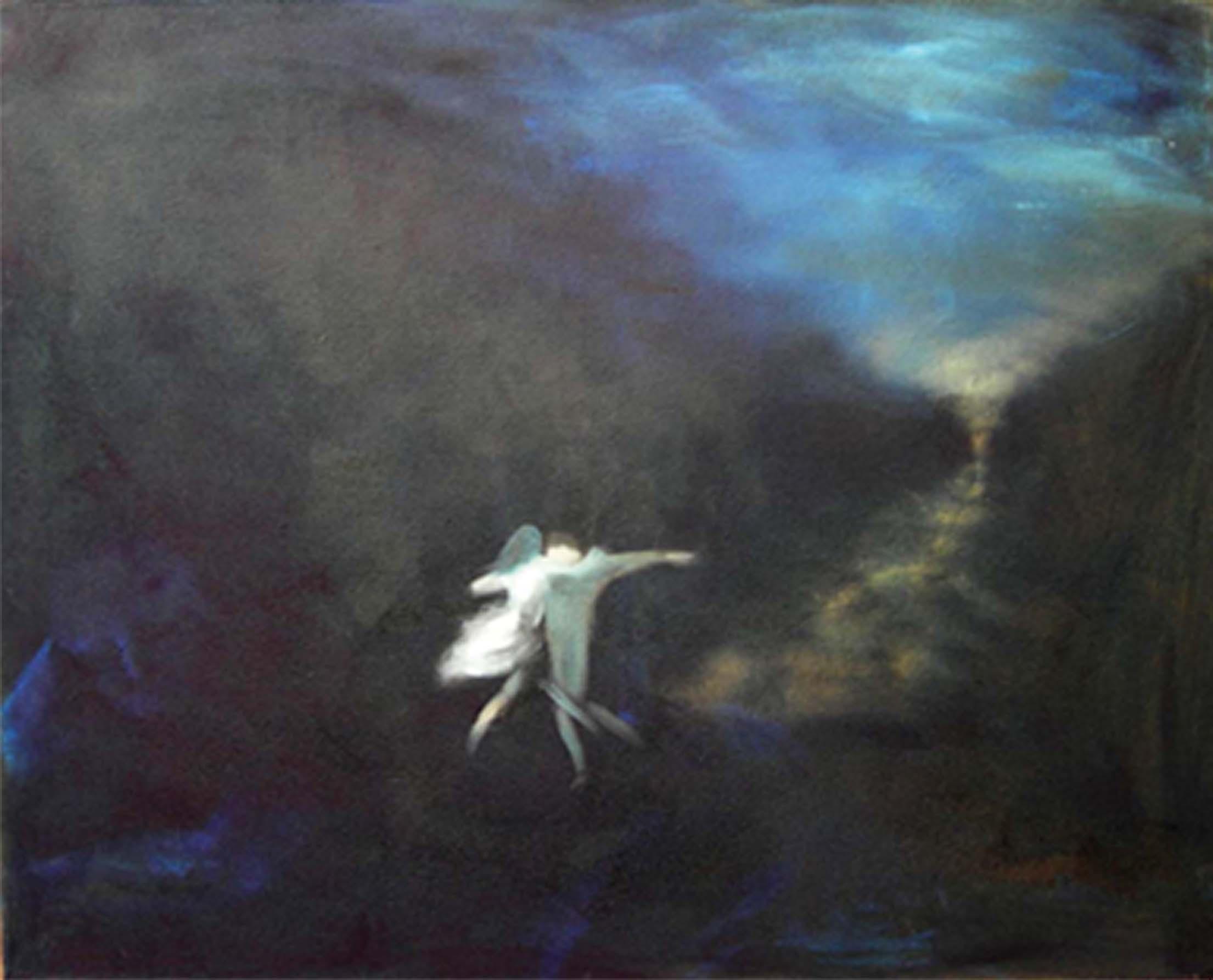 Night dance-liebespaar