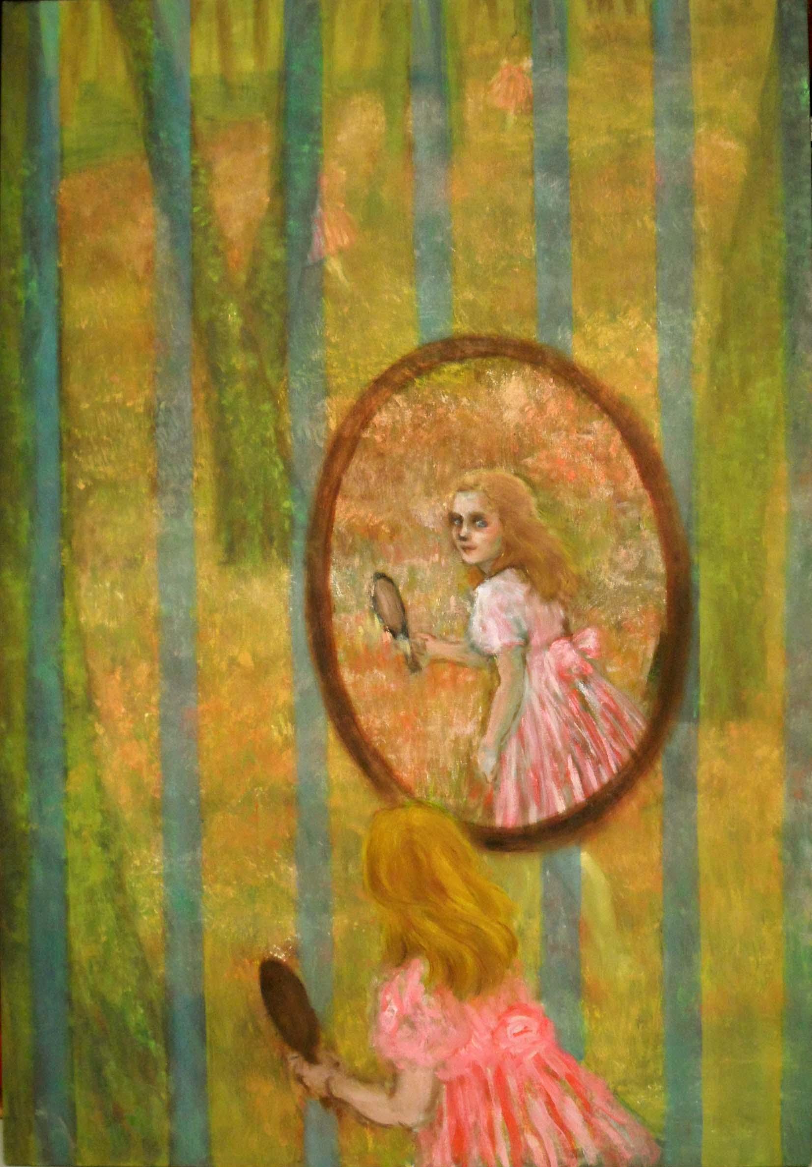 Forest in mirror