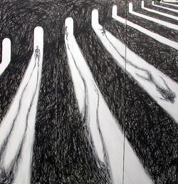 Shadow 223-Triptych