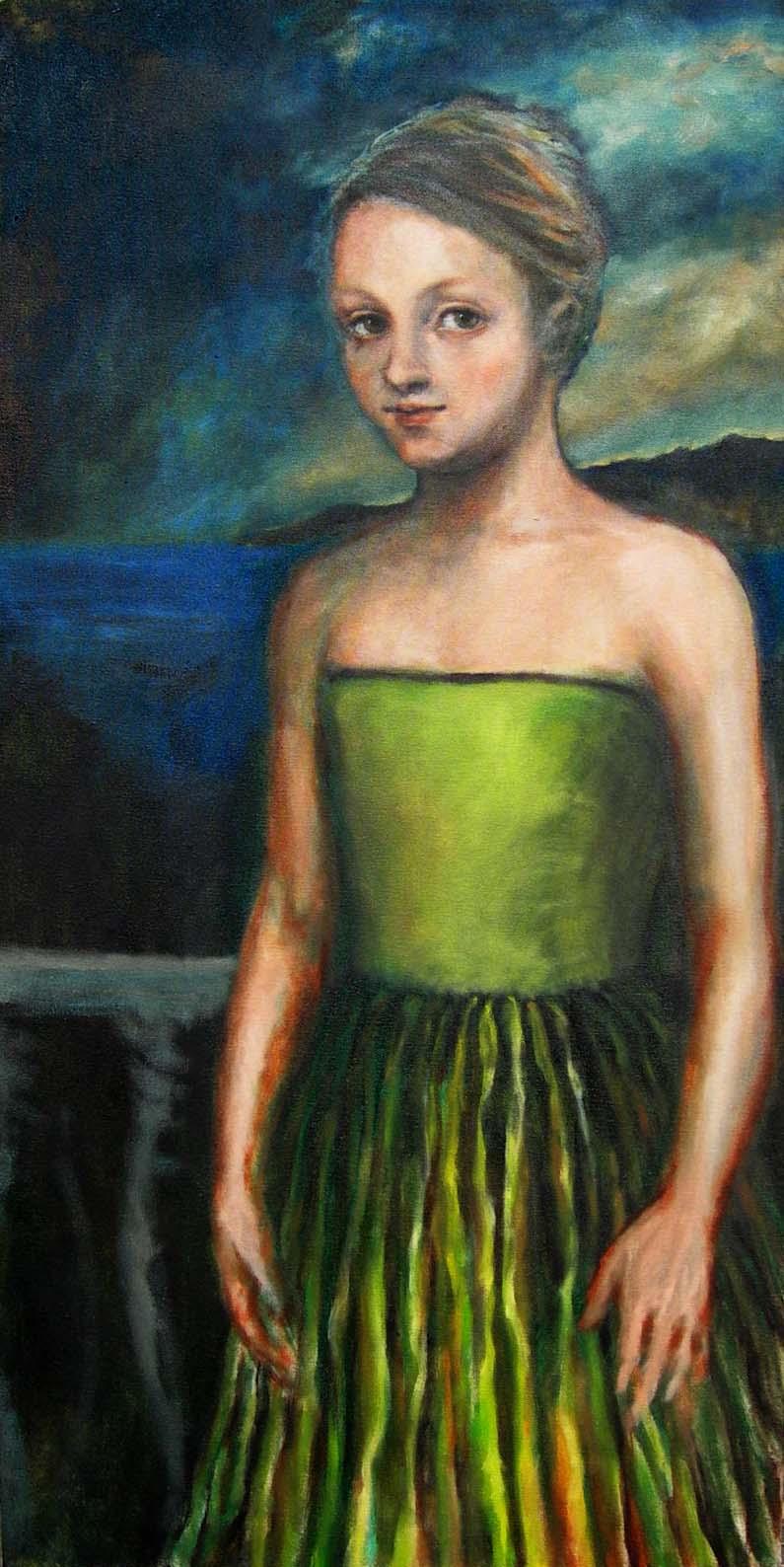 Girl on terrase