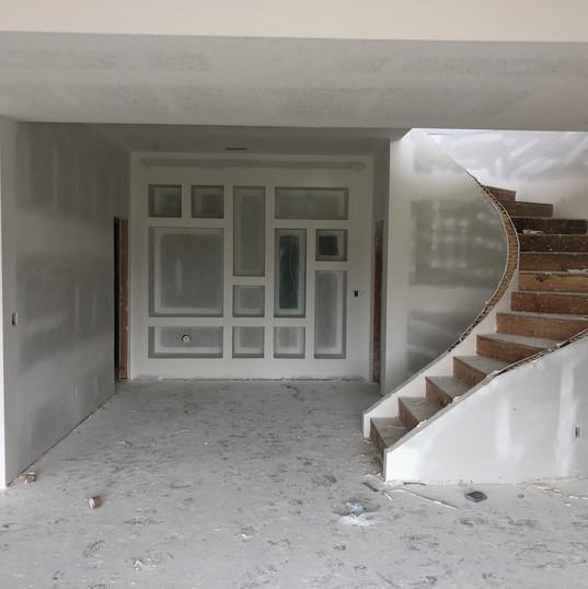 Deco wall in basement