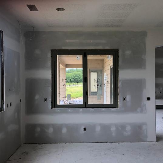 Kitchen pass through window