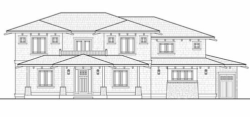 Craftsman Front Elevation