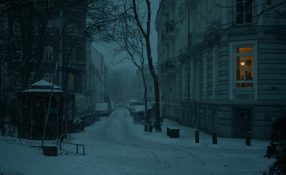 Snow in Hamburg - Altona