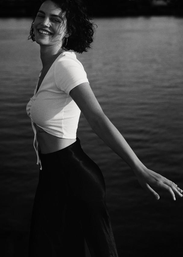 Lina Florine for  CURVE Models Management