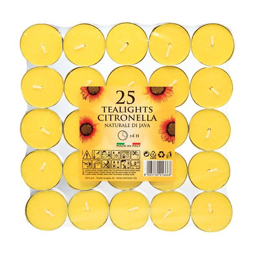 Citronella Tealights Pack of 25