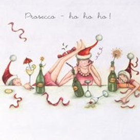 Berni Parker Prosecco- ho ho ho Card