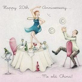 Happy 20th Anniversary Berni Parker Card