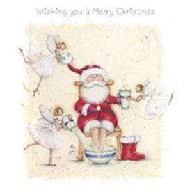 Berni Parker Wishing you a Merry Christmas Card