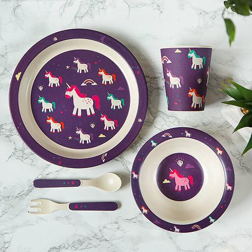 Purple Unicorn Dinner Set