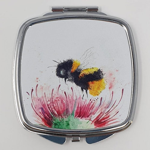 Love Country Thistle and Bee Compact Mirror