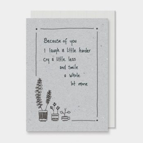 Because of you... East of India Card