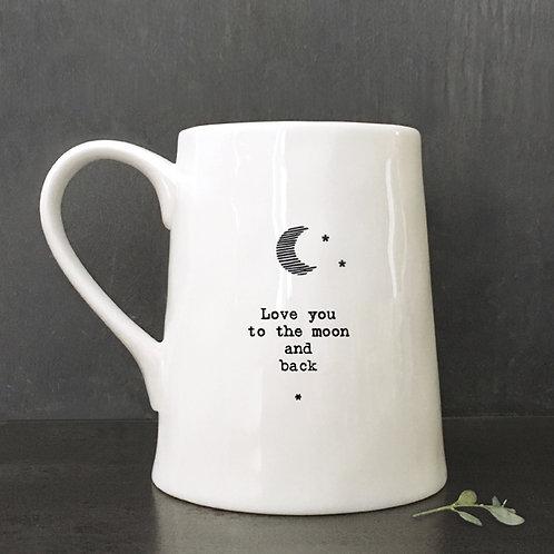 East of India Porcelain Mug - Moon/Love you to moon