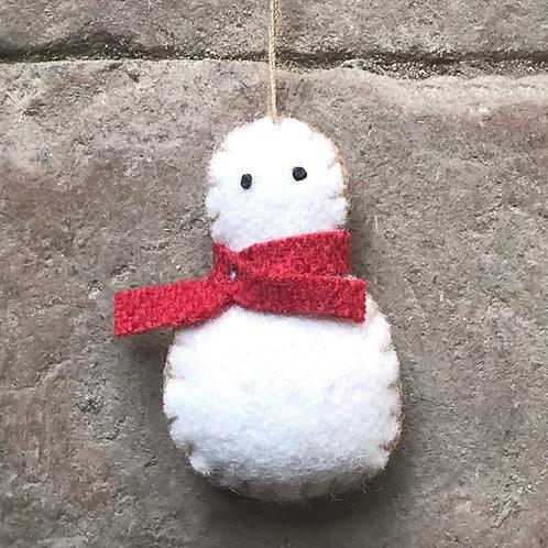 East of India Felt Hanging Snowman - Tiny