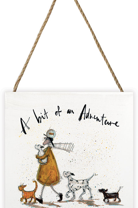 Sam Toft A bit of an adventure Wooden Canvas
