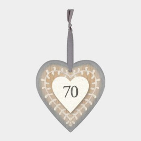 70 Wooden Heart Hanger