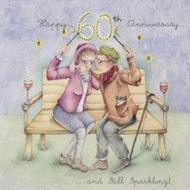 Happy 60th Anniversary Berni Parker Card