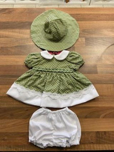 Green Polka dot 3 Piece Set