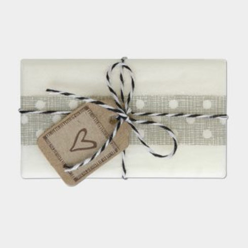 East of India String Tied Soap - Heart