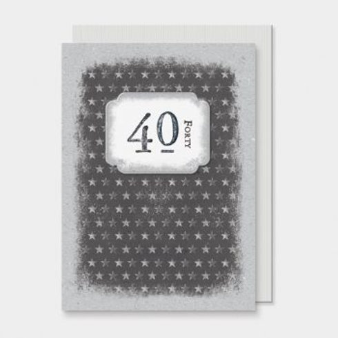 40th Birthday East of India Card