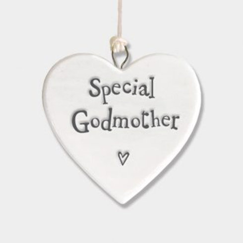 Godmother Small Hanging Heart