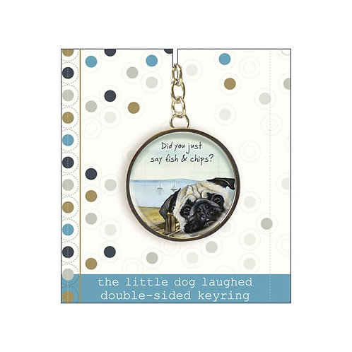 Little Dog Laughed Fish and Chips Keyring