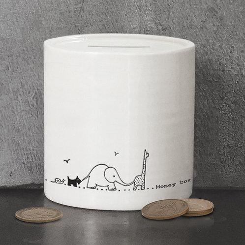 East of India Porcelain Money Box - Nursery Animals