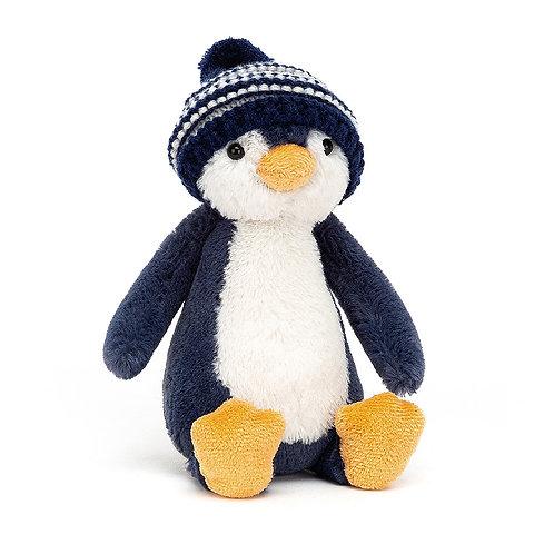 Jellycat Bashful Navy Bobble Hat Penguin