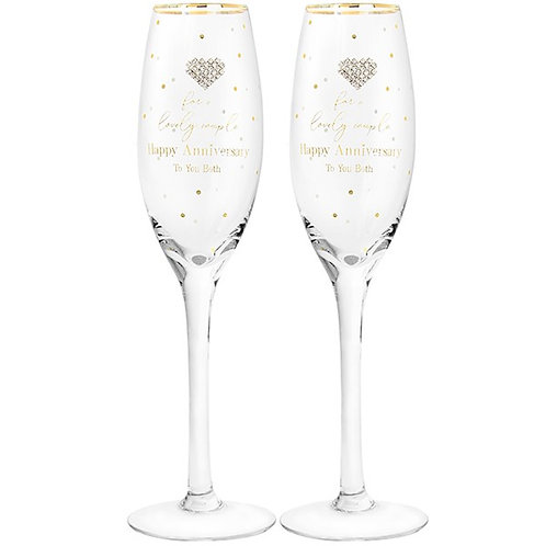 Mad Dots Pair of Anniversary Flutes