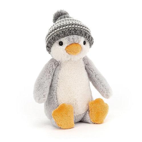Jellycat Bashful Grey Bobble Hat Penguin