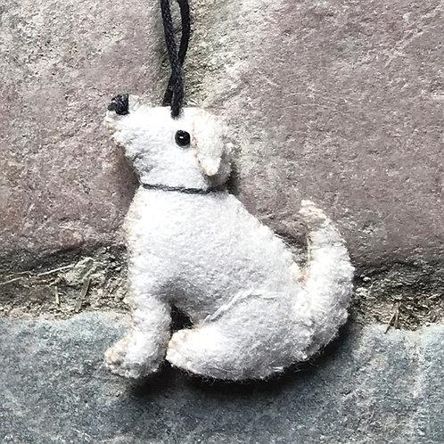 East of India Felt Hanging Labrador - Beige