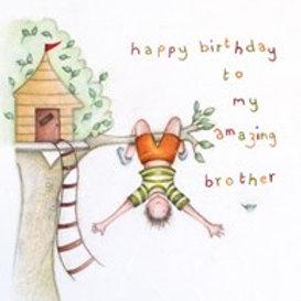 Happy Birthday Brother Berni Parker Card