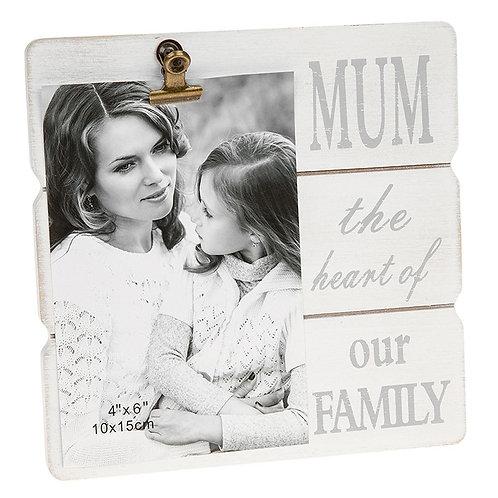 'Mum' Message Clip Frame