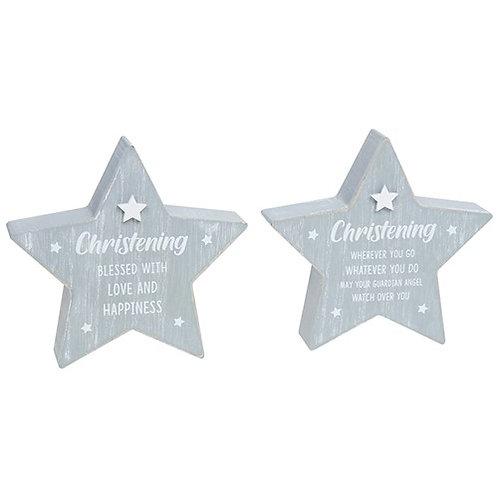 Cool grey standing star - Christening