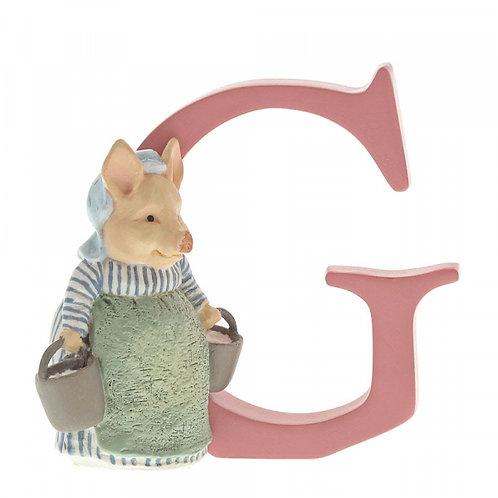 Beatrix Potter Ceramic Letters - Letter G