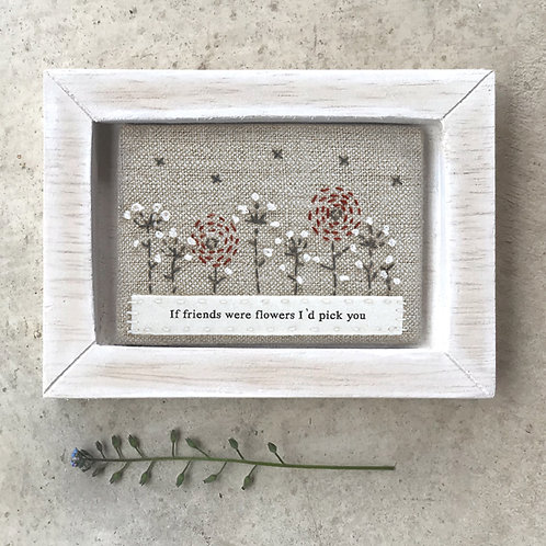 East of India Embroidered Pic - Friends were flowers