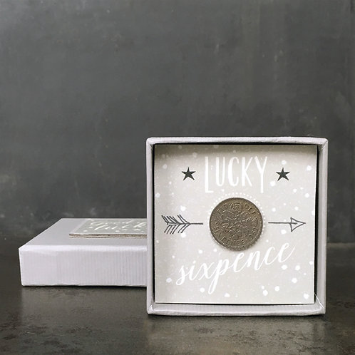 East of India Sixpence grey dots - Lucky