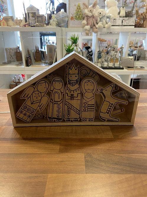Children's Wooden Nativity Set