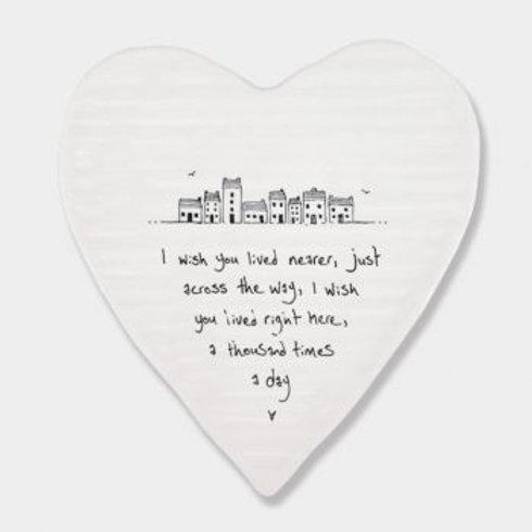 Wish you lived nearer... Heart Coaster