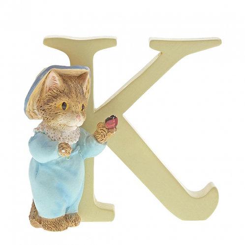 Beatrix Potter Ceramic Letters - Letter K